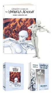 Umbrella Academy Apocalypse Suite Hardcover Book & Figure Set Dark Horse Comics Gerard Way
